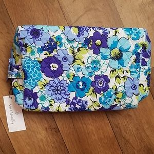 Vera Bradley Large Cosmetic Bag Blueberry Blooms
